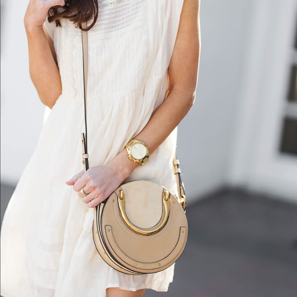 bf0bfd02 Chloé Suede and Leather Small Pixie Bag